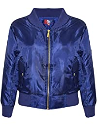 A2Z 4 Kids® Kids Jacket Girls Boys Bomber Padded Zip up Biker Jacktes MA 1 Coat New Age 2 3 4 5 6 7 8 9 10 11 12 13 Years