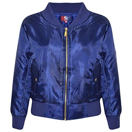 A2Z 4 Kids Enfants Filles Garçons Tout Dritto Bomber - MA1 Jacket Straight Navy 11-12