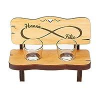 Panchina porta-bicchierini da liquore con incisione personalizzata - simbolo dell'infinito - un prodotto di qualità da Casa Vivente! Quando incontri la persona giusta, capisci subito che sarà per sempre. Ma...