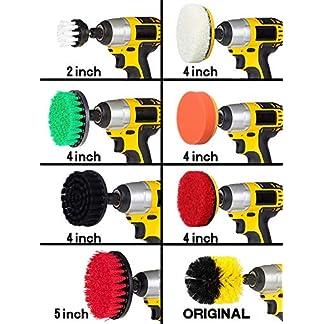 Rain Queen – 10 cepillos Grandes de 5 cm a 12,5 cm para Taladro y Espeso para Limpiar el Taladro eléctrico, el Coche, el baño, la Cocina, los Azulejos y Las Ventanas