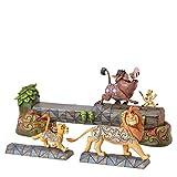 Disney Traditions Carefree Camaraderie Simba, Timon and Pumbaa Figurine, Multi-Colour