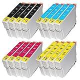 ZR-Printing ZR-128XL Ersatz-Tintenpatronen für Espon 12XL T1281 T1282 T1283 T1284 kompatibel für Epson Stylus S22/SX125/SX420W/SX425W/SX235W/SX130/SX445W/SX230/SX440W EPSON Stylus Office BX305F/BX305FW Drucker