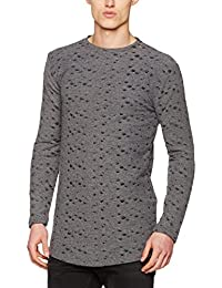 Young & Rich Longsleeve Tunica Sweat Double, T-Shirt Homme