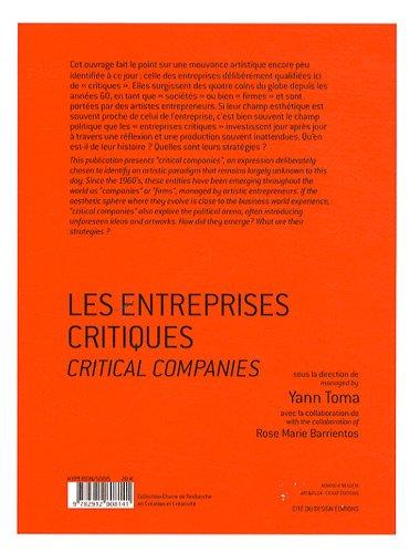 Les entreprises critiques : La critique artiste à l'ère de l'économie globalisée, édition bilingue français-anglais