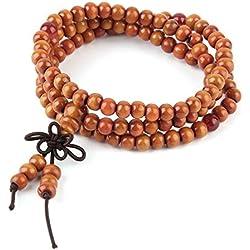 Jellybean vendedor UK 8mm tibetana budista madera Oración Bead Mala Pulsera Collar