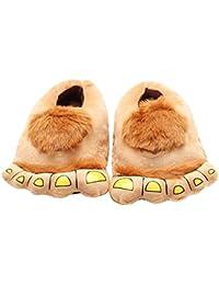 0ba3ff658f47f Casa Femme Peluche Pantoufle Monstre Chaussons Rigolo Adulte Cartoon Hiver  Coton Chaussons 3D Chaussures,cadeaux