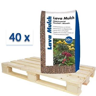 Lavamulch Rot 8-16 mm volle Palette 40x20 Liter Säcke von Hamann Mercatus GmbH bei Du und dein Garten