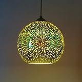 Moderne Neuheit Glaskugel Pendelleuchten - 3D bunte Anhänger Beleuchtung hängende Leuchte E27 Lampenschirm (Glühbirne nicht im Lieferumfang enthalten)