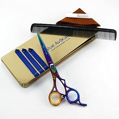 Blue Avocado TM-1109 Professional Barber Hairdressing. Ciseau professionel de coiffure -14cm. Fournit avec étui de transport et accessoires.