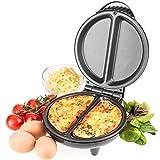 Savisto Electric Omelette Maker, 750 Watt Non-Stick Egg Cooker for Omelettes with Automatic