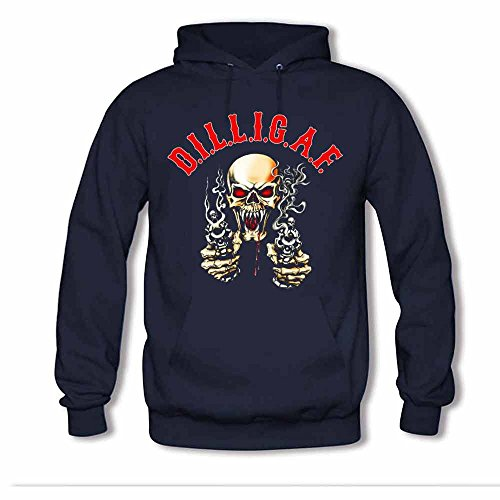 Dilligaf Logo Skull with Revolvers Women's Hoodie XXL