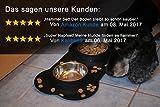 Napf Set für Katzen & kleinere Hunde – 2x Edelstahlnapf incl. flexiblem Silikontablett - 4