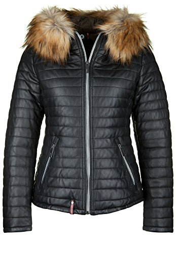 OAKWOOD Damen Ledersteppjacke HAPPY 2