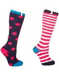 Toggi Niños bendición forro polar calcetines, color rojo, tamaño 10–3