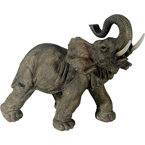 oßer Elefant Jumbo 54 cm stehend Afrika Figur Elefanten Skulptur  (Jumbo Elefant)