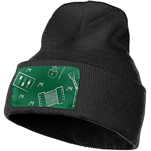Ace Mate Piano Balalaika Geigenbogen Damen und Herren Skull Caps Winter Warm Stretchy Knitting Beanie Hats