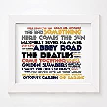 'Cadence' Art Print–The Beatles–Abbey Road–Firmada y numerada edición limitada de la tipografía sin marco 10x álbum de 8pulgadas Wall Art Print–Song Lyrics Mini Poster