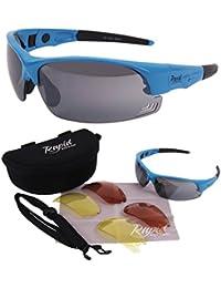 Edge Blau Pilotenbrille mit wechselgläsern. Entspricht den UK CAA Empfehlungen