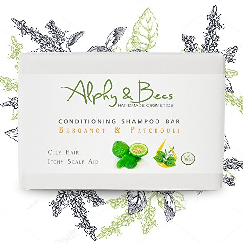 Conditioning Shampoo Bar BERGAMOT & PATCHOULI - With Coconut Milk & Shea Butter