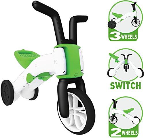 Chillafish BUNZI: 2-in-1 Gradual Balance Bike and Tricycle, Lime