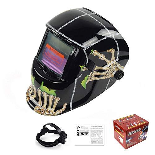 Schweißmaske Automatik-Schweißmaske Argon-Lichtbogen-Schweißhelm Automatik-Dimm-Schweißkappe Schwarzer Boden Ghost Claw