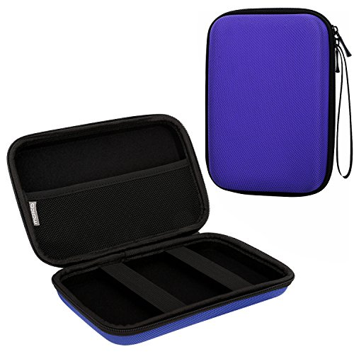 """MoKo GPS Navi Tasche Hülle, Universal 5 Zoll Hartschalenetui Case für 5"""" Navigationsgeräte Garmin Drive 50, Becker, Tomtom, Magellan mit 5"""" Bildschirm, Blau"""
