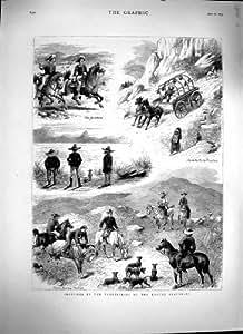 Chasse 1879 de Coyote de Montagnes Rocheuses de l'Amérique Salt Lake