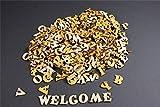 250+ Holz kleine Buchstaben (1cm) Alphabet Dekoration Selbstklebend (NF14)