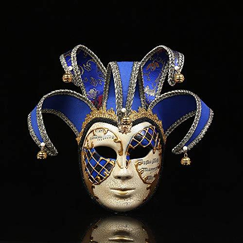 YWJ Masquerade Mask Jester Halloween Karneval Party Ball Kostüm Augenmaske,1