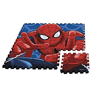 Kids Licensing-un Alfombra Espuma Spiderman AU Formato Puzzle, mv92392