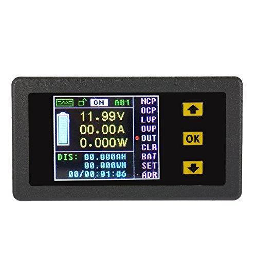 Preisvergleich Produktbild KKmoon 0,01-400V DC 0,1-300A Multifunktionale Drahtlose Bi-direktionale Digitalspannung Aktuelle Power Amperemeter Voltmeter Kapazität Coulomb Meterzähler(VAC-1030A)