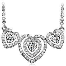 """J.NINA """"Loving Carol"""" Corazón Collar Mujer, fabricados con cristales WAROVSKI®"""