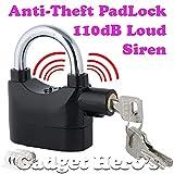 #4: Gadget Hero's Details about Anti Theft Burglar Pad Lock Alarm Security Siren Home Office Bike Bicycle Shop