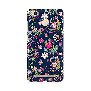 RAYITE Cute Flower And Butterfly Premium Printed Mobile Back Case Cover For Xiaomi Redmi 3s Prime