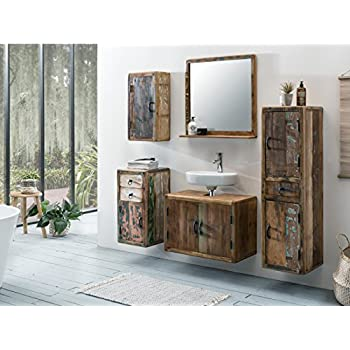 vidaxl teak badm bel waschbeckenunterschrank wandspiegel antik vintage shabby k che. Black Bedroom Furniture Sets. Home Design Ideas