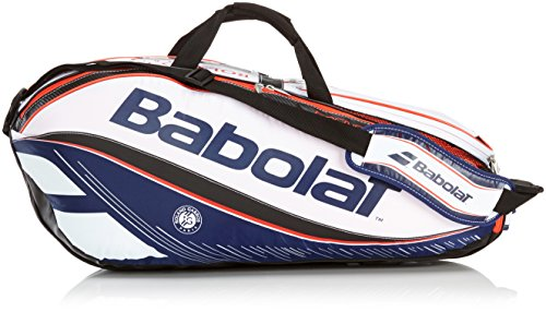 Custodia racchetta babolat Pure Aero French Open Racket Holder X6, Blu, 70 x 50 x 10 cm, 0,4 litri, 751125 - 209