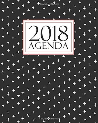 Agenda: 2018 Agenda semana vista español : 190 x 235 mm, 160 g/m² : Negro, blanco y coral: Volume 16 (Calendarios, agendas y organizadores personales)