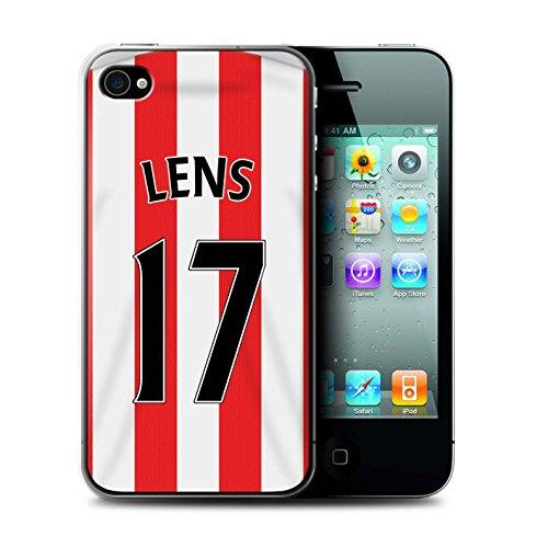 Offiziell Sunderland AFC Hülle / Case für Apple iPhone 4/4S / Larsson Muster / SAFC Trikot Home 15/16 Kollektion Lens