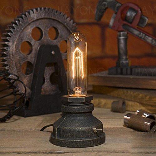 Shopping Maker 1 STÜCK Amerikanischen Retro Loft Eisen Wasserrohr Tischlampe Halter für Schlafzimmer Restaurant Cafe Bar