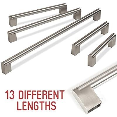 Hausen Kitchen Cupboard Cabinet Boss Bar Door Handle Stainless Steel 128-909mm - low-cost UK light store.