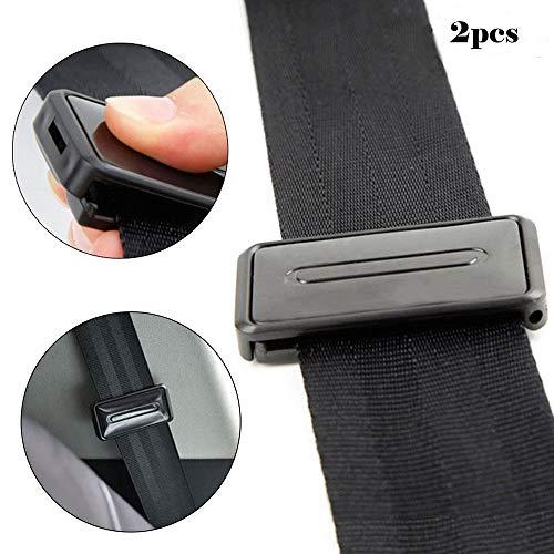FOONEE - Pinza para Cinturón de Seguridad para Adultos y Embarazadas, 2 Unidades, Color Negro