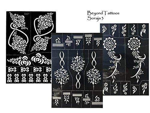 3sheets tattoo stencil modelli henna design per disegnare sul corpo soraja 3