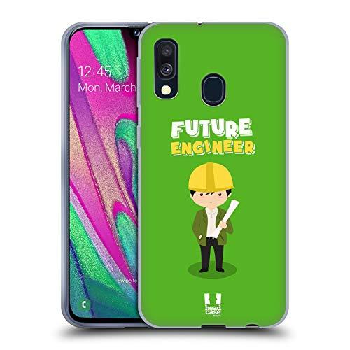 Head Case Designs Ingenieur Kinder Von Morgen Soft Gel Huelle kompatibel mit Samsung Galaxy A40 (2019)