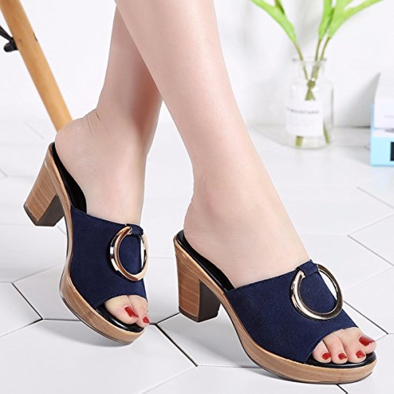 4ef7898c438a qpssp pantoufles, pantoufles, pantoufles, talons haut fond épais et  sandales, pantoufles, des chaussures de femmes.b07dbw5wvc parent   De  Gagner Une Grande ...