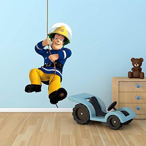 Preisvergleich Produktbild Feuerwehrmann Sam Ganzes Mehrfarbig Wand Sticker Aufkleber Kinder Schlafzimmer Transferdruck Grafik - Multi, M: 95cm(H) x 53cm (W)