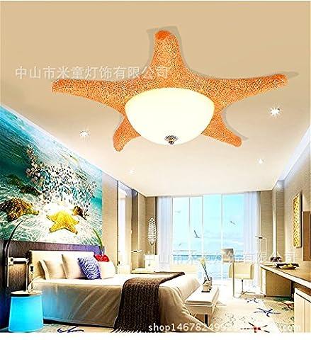 Lilamins Plafonnier Led bleu pour chambre d'enfant Rose étoile de mer CuteLighting Cartoon pour une salle de séjour, bureau, salle de bains, cuisine, couloir, feux encastré au plafond, 600mm