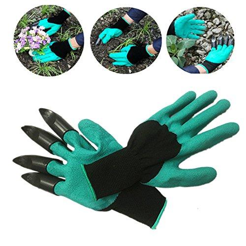 Jiayuane Garten-Genie Anti-Schnitt Handschuhe Breathable Empfindlichkeits-Plastiknylon einfach, zum für Arbeit im Garten zu graben -