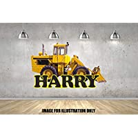 Digger JCB Nursery Personalised Named Childrens Wall Stickers Boys Girls Wall Art Transfer Decal