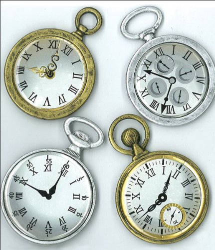 Jolee's Boutique Dimensional Stickers-Vintage Pocket Watches