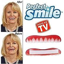 Perfect Smile 2x1 - La increíble e instantánea FUNDA DE CARILLAS reutilizable y extraíble que te